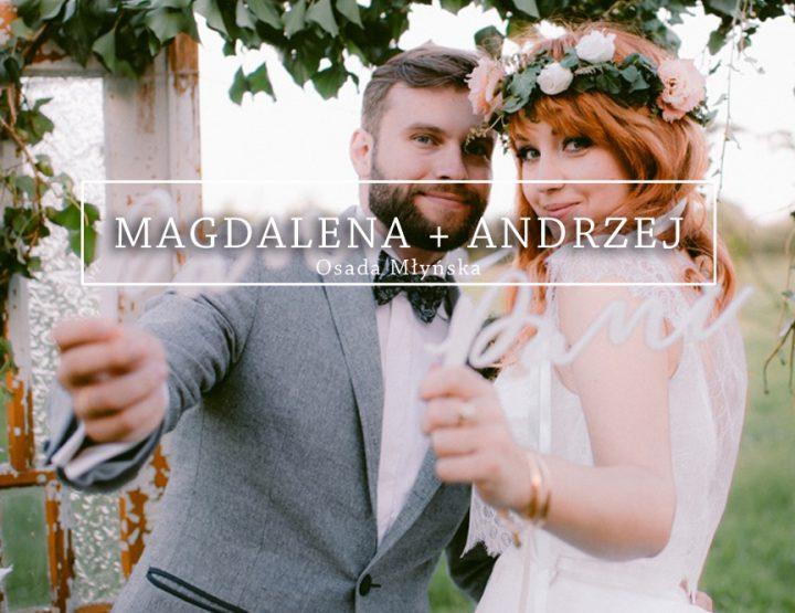 Rustykalny ślub MAGDA + ANDRZEJ {Osada Młyńska}