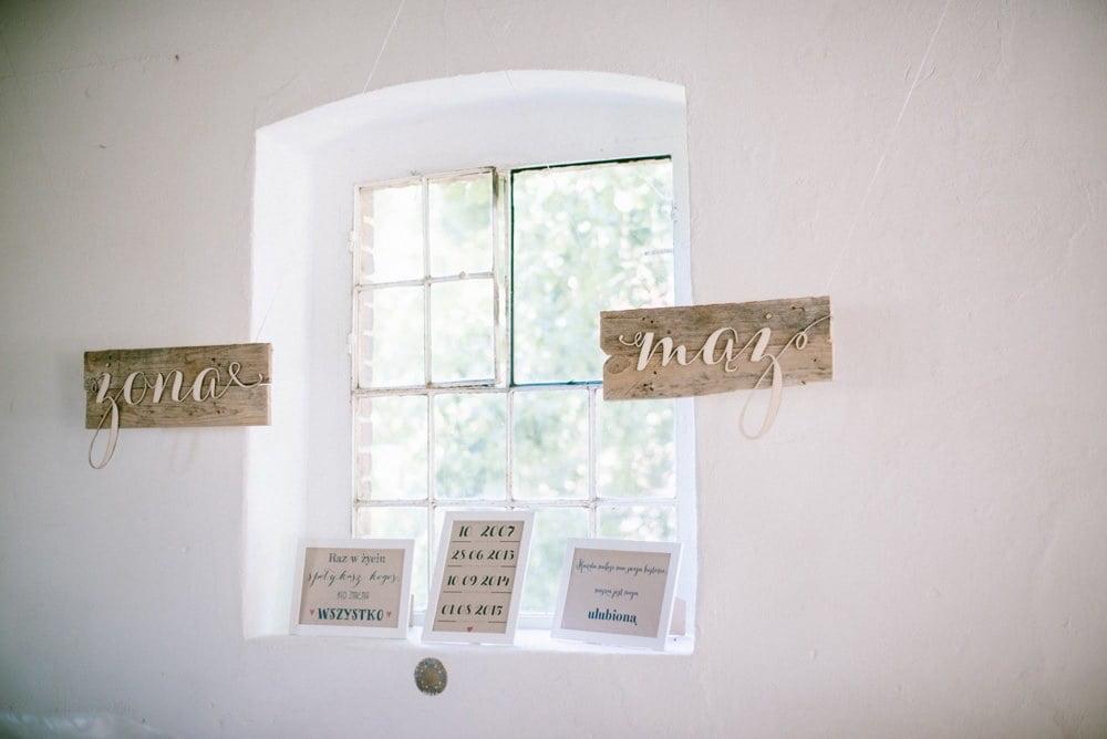 dekoracje DIY na ślubie