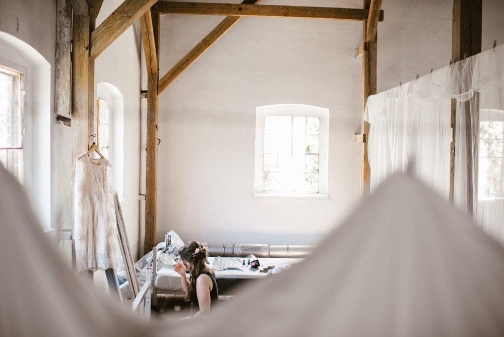 przygotowania Panny Młodej w Młyn Kowalewko