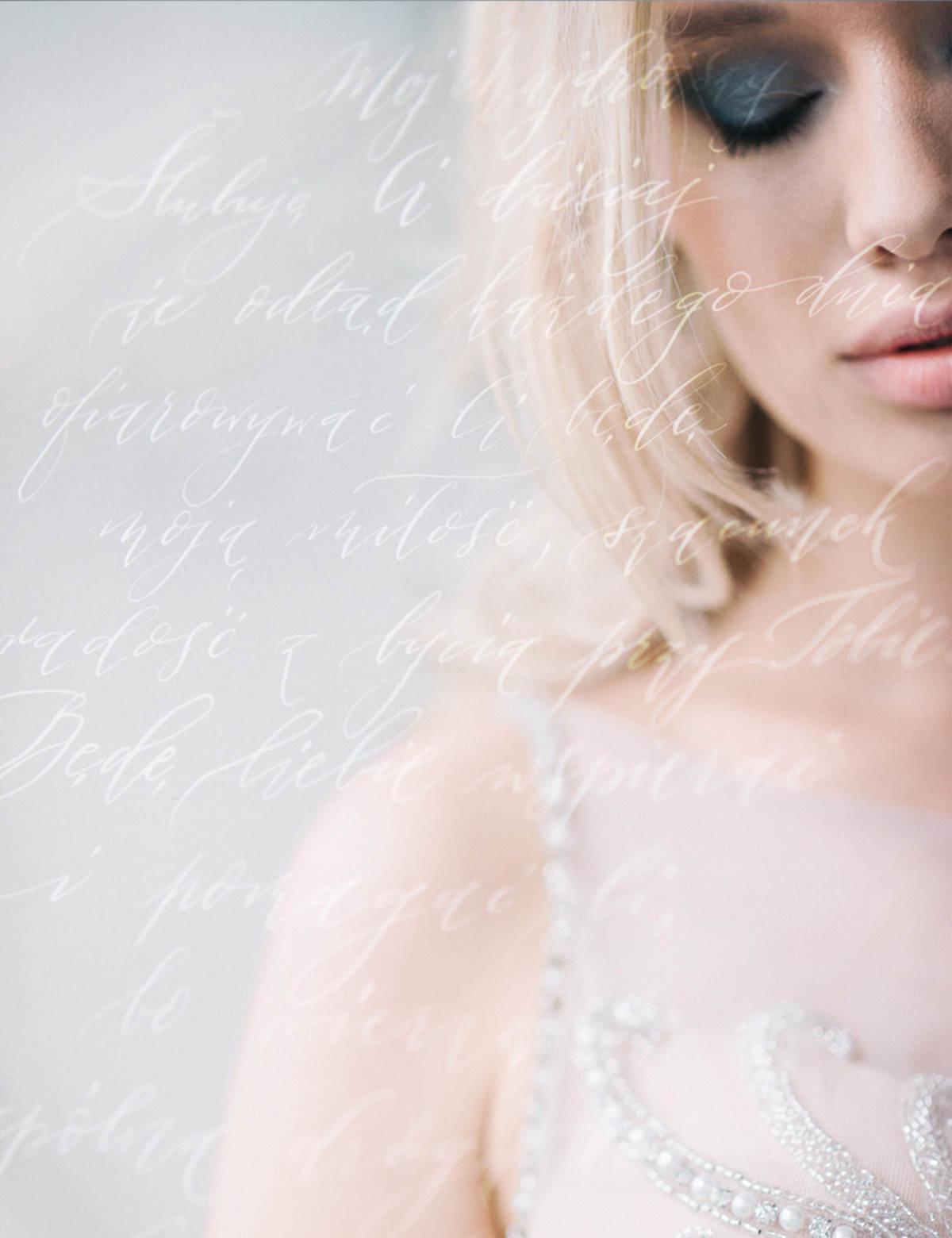 romantyczny portret panny młodej