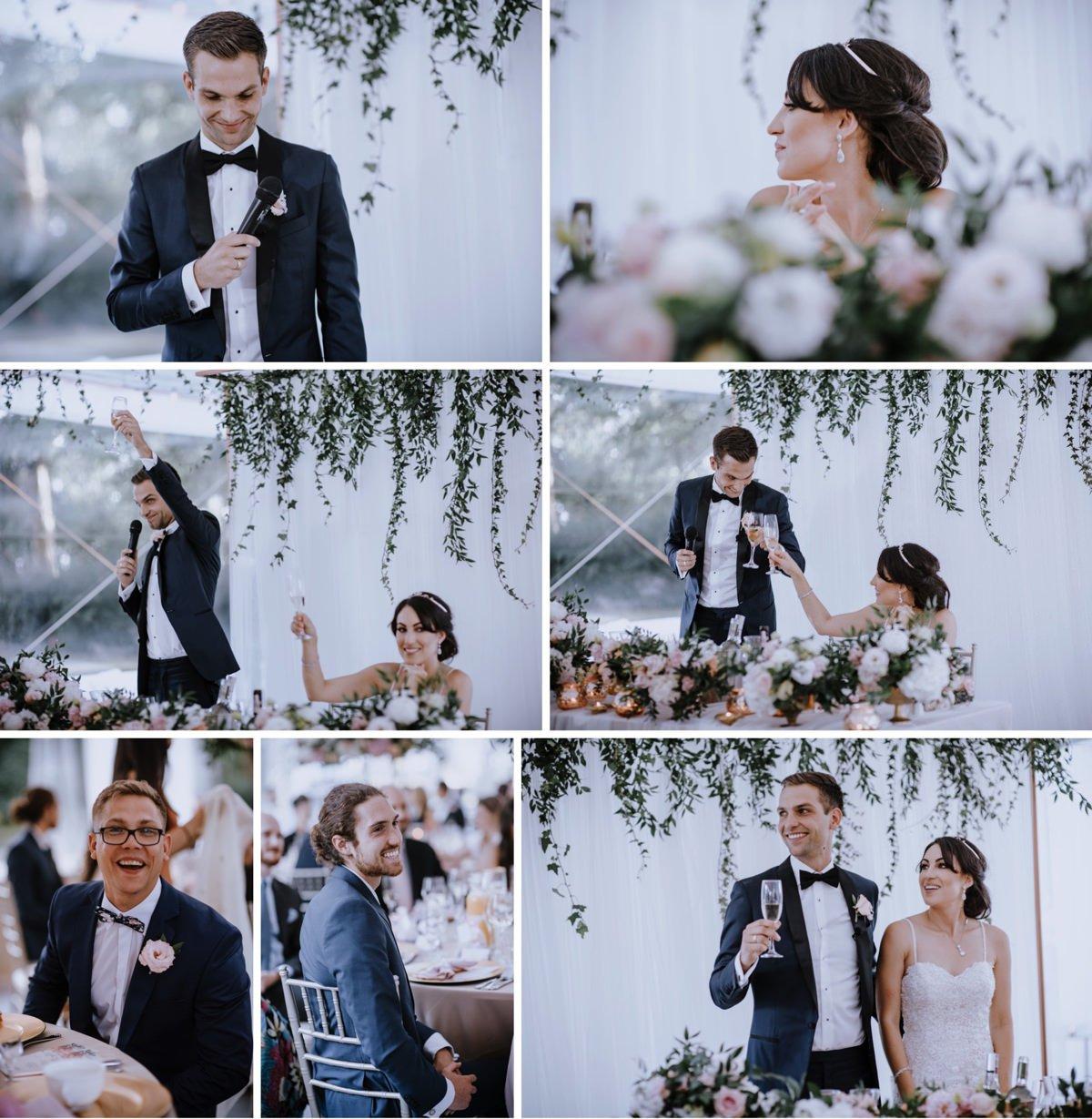 Pan Młody przemawia na weselu