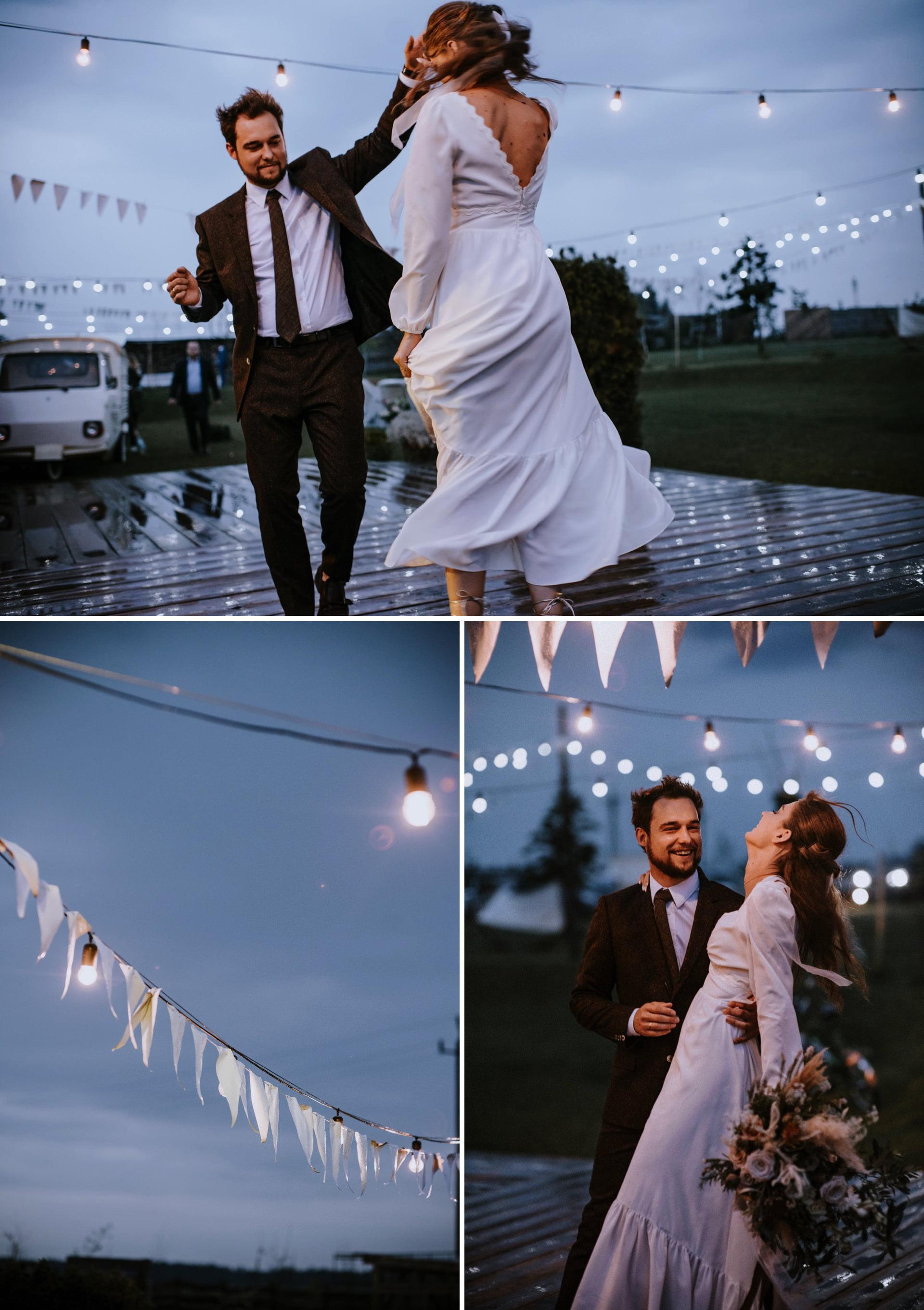taniec w deszczu w folwark Ruchenka