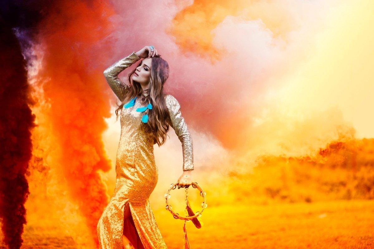 świece dymne Gypsy boho sesje ślubna fotograf Poznań Ceglarnia