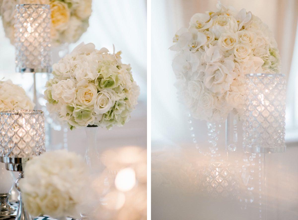 glamour dekoracje ślubne