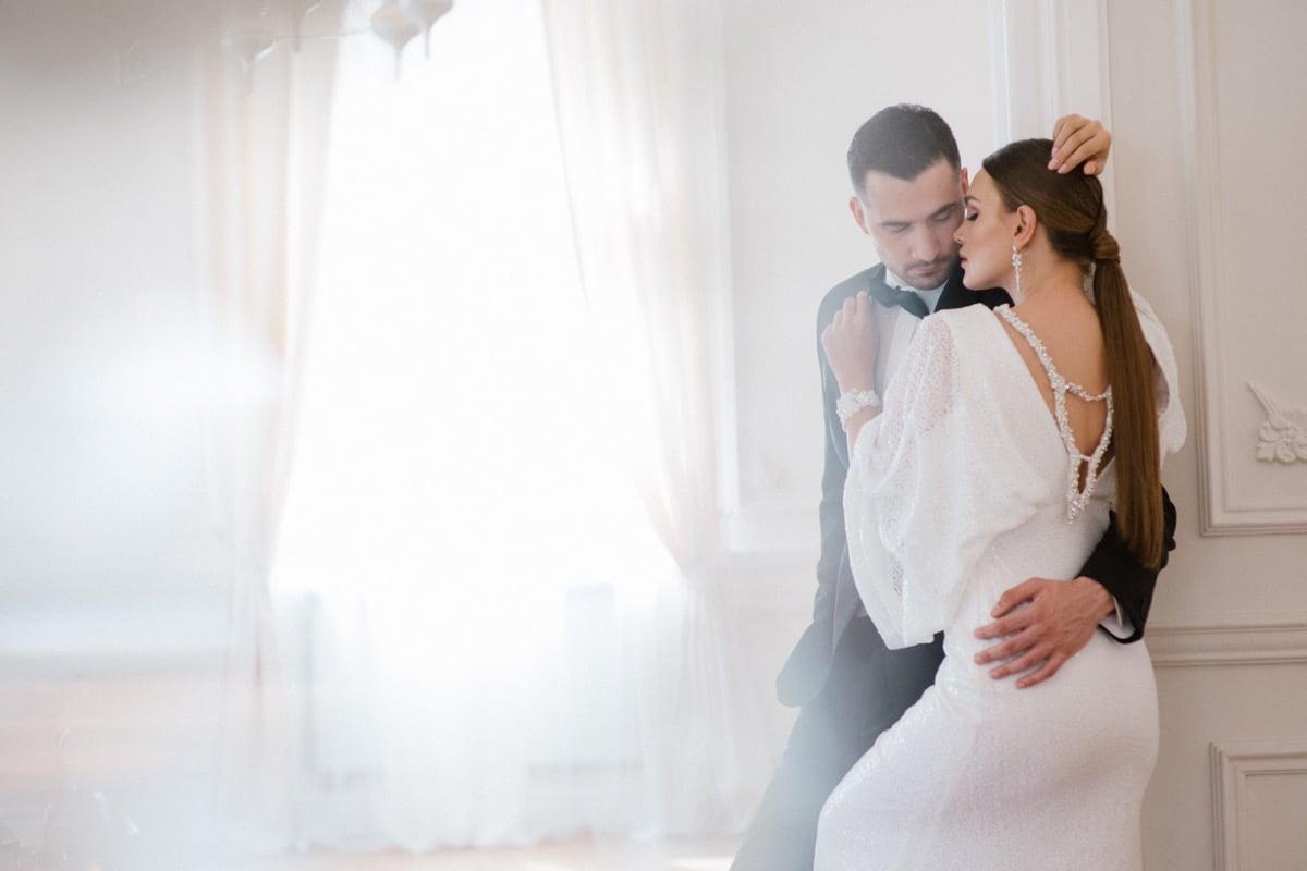 elegancki ślub, para młoda