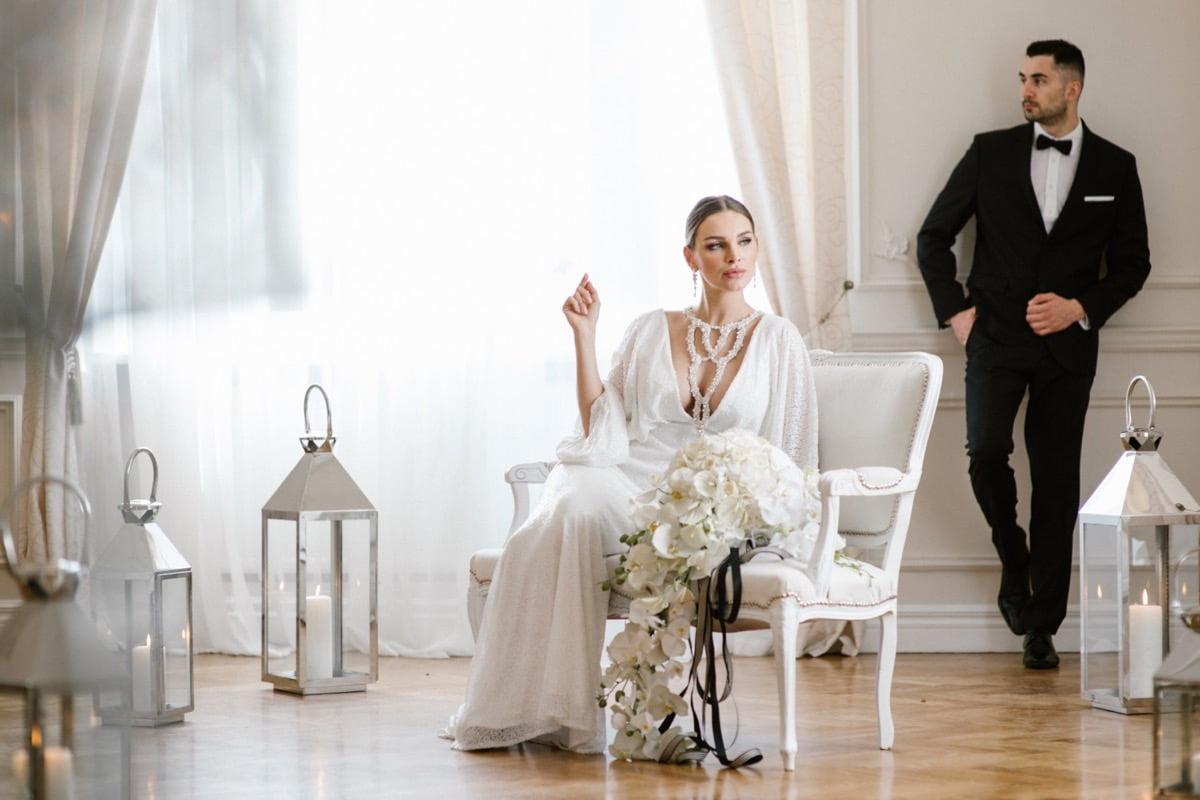 klasyka ślubna, moda ślubna, glamour panna młoda