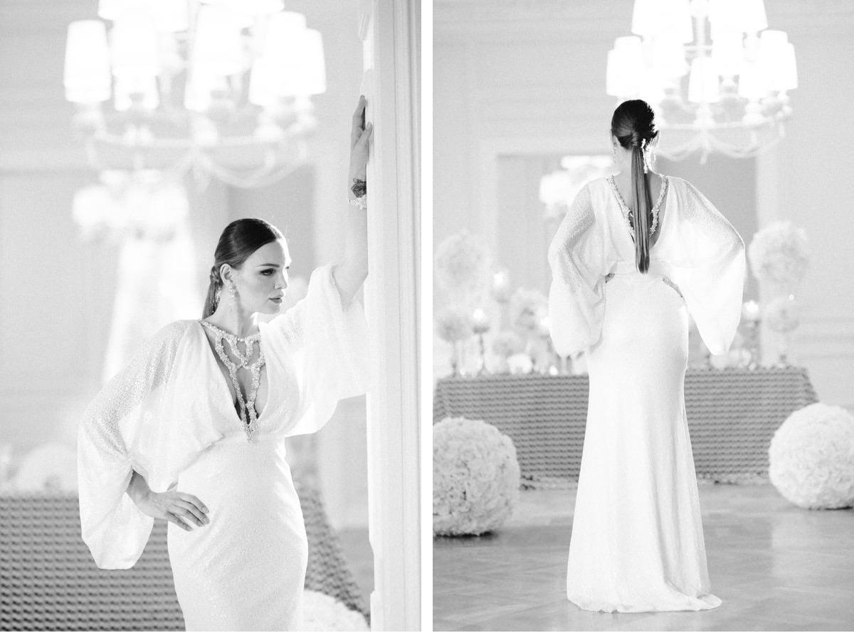 zdjęcia czarno-białe, klasyka ślubna, moda ślubna, stylowa panna młoda