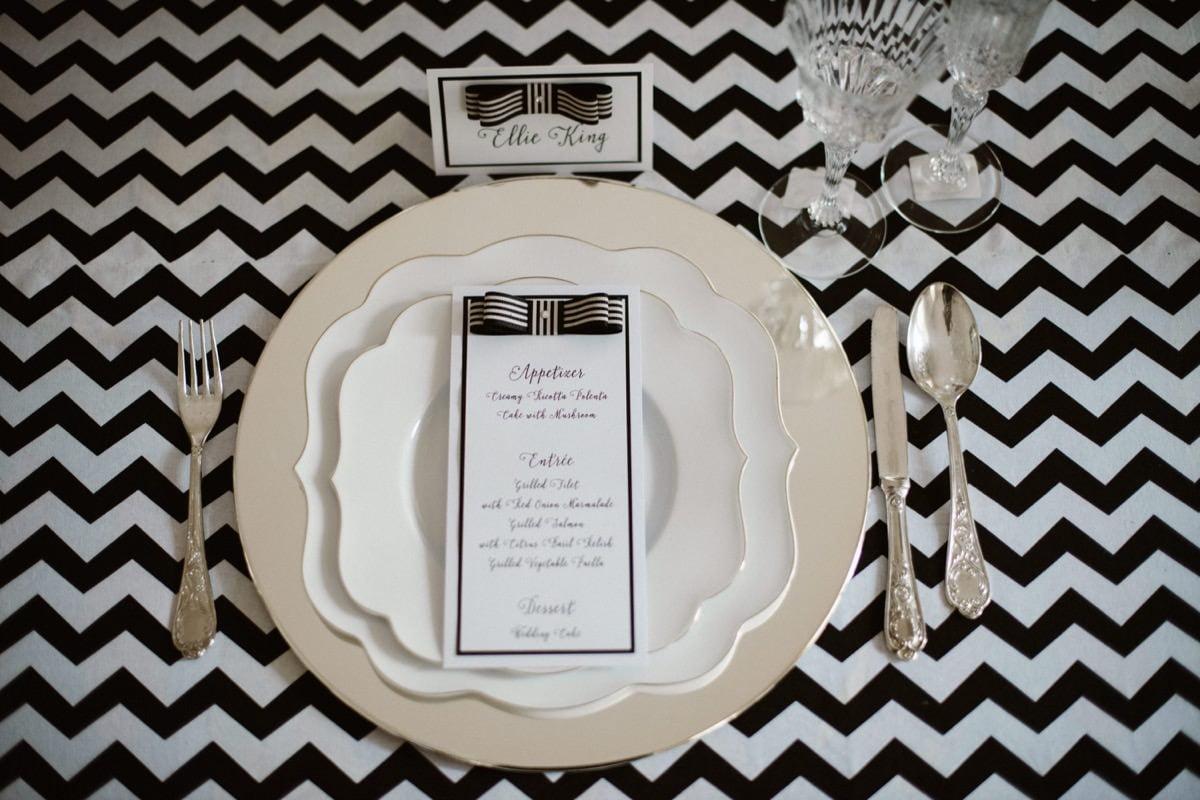 nakrycia na stół, dekoracje weselne