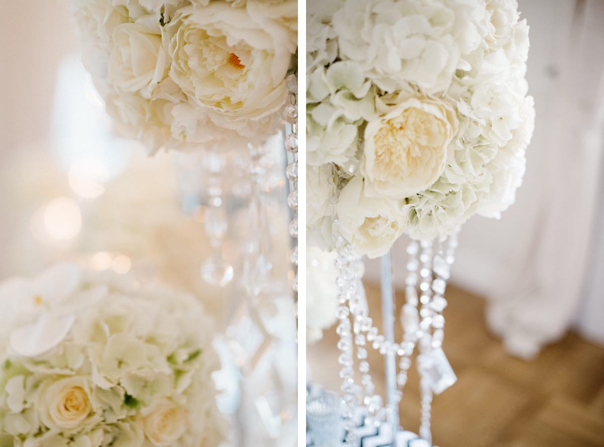 dekoracje ślubne, stół weselny