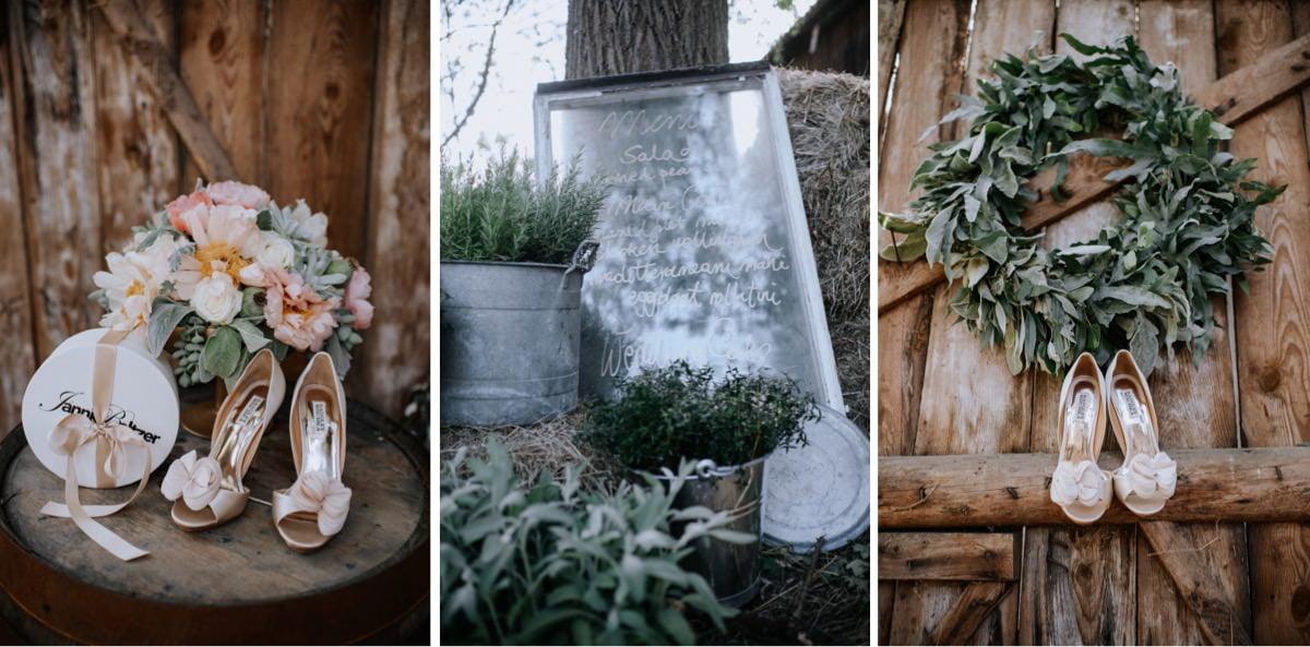 lista gości, stare okno, dekoracje weselne, ślub w stodole, bukiet ślubny