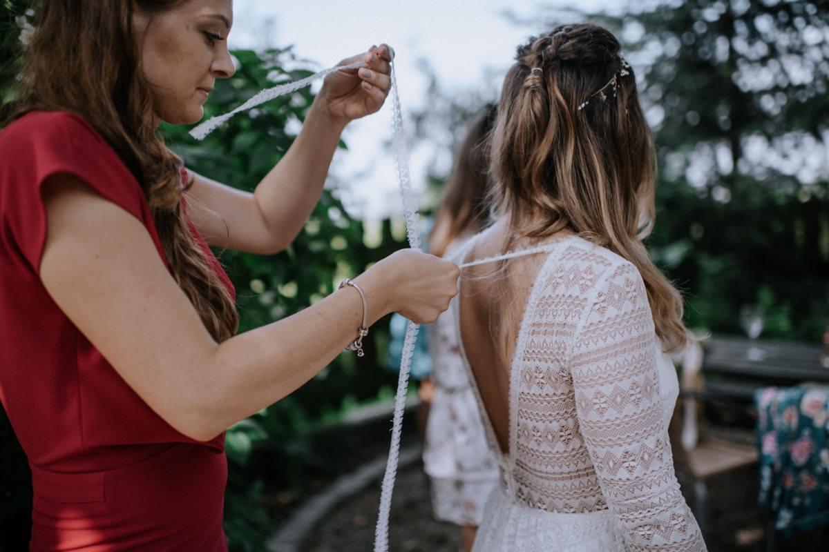 przygotowania panny młodej, ślub plenerowy