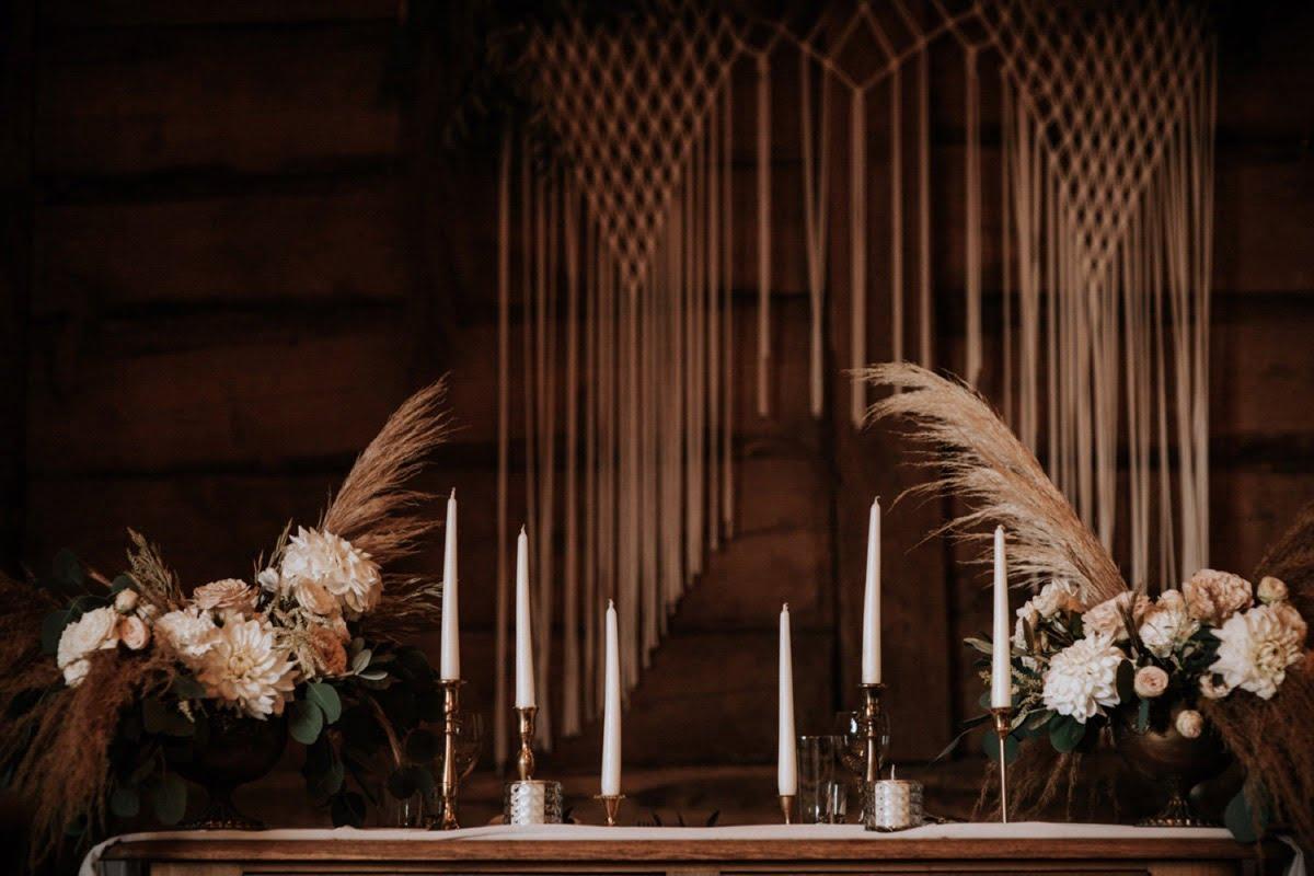 dekoracje weselne, makrama