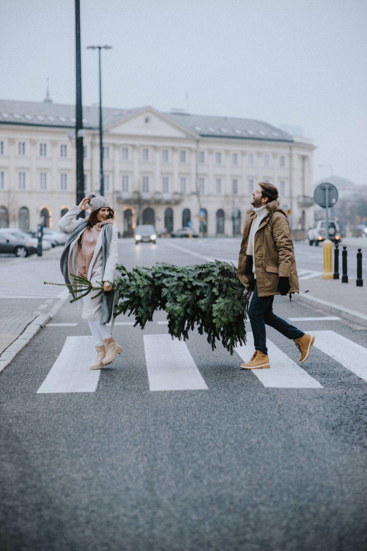 zimowa sesja świąteczna, christmas in the city