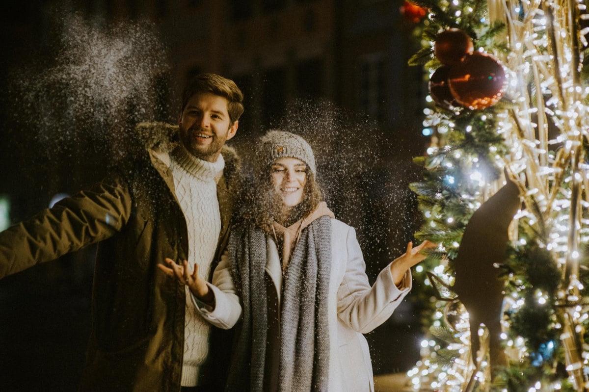 sesja świąteczna, zimowa sesja narzeczeńska