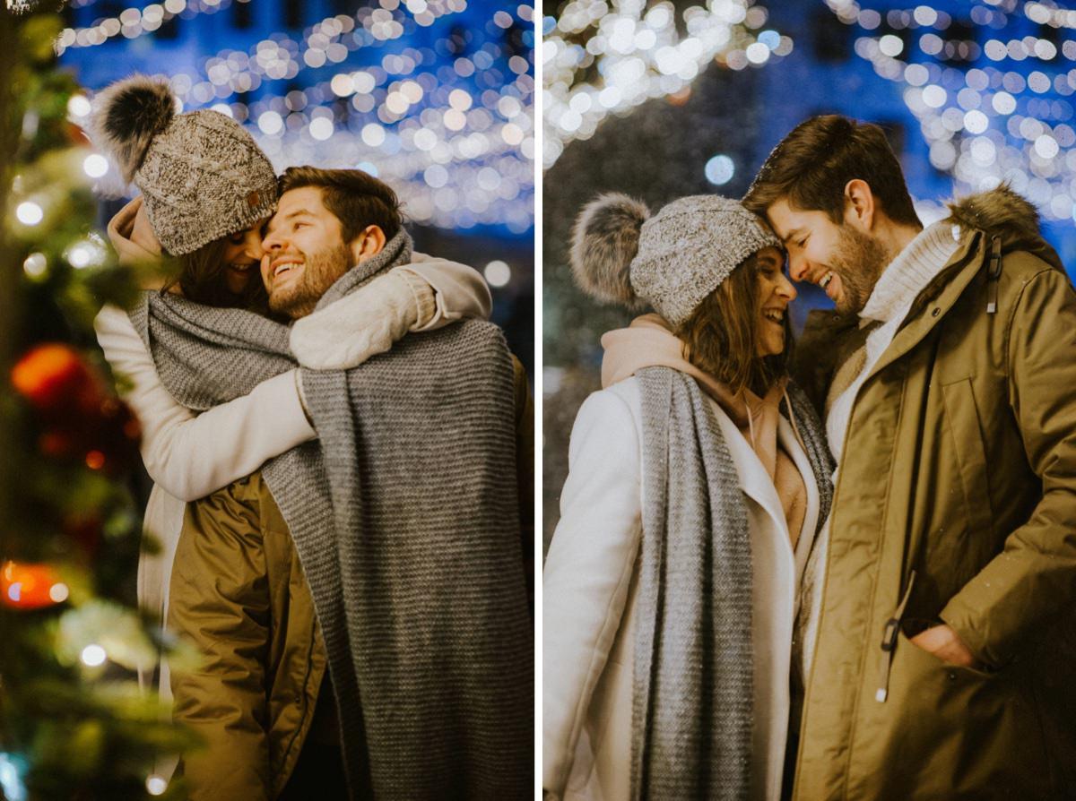 zakochani w zimie, sesja narzeczńska