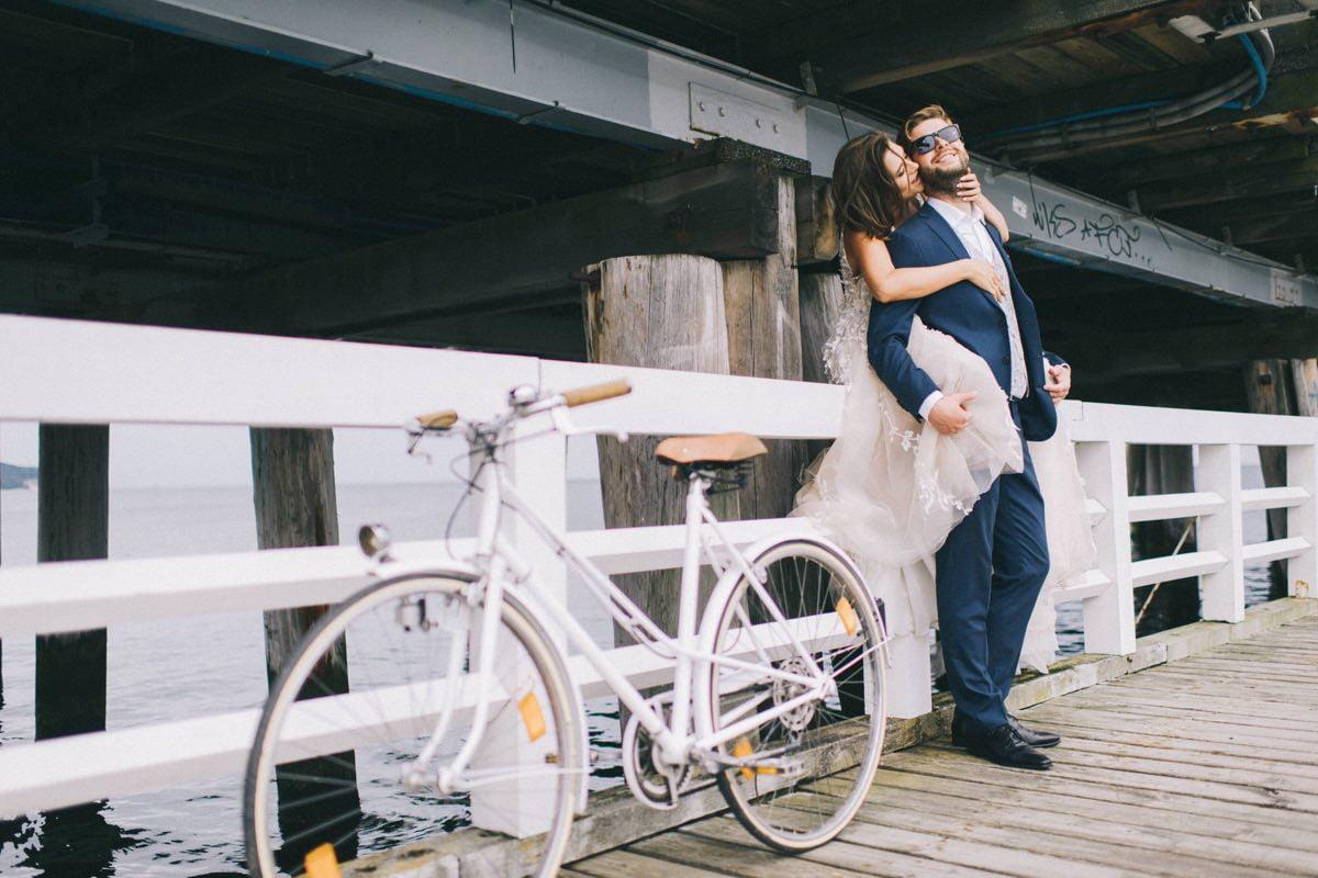 romantyczna sesja ślubna na plaży